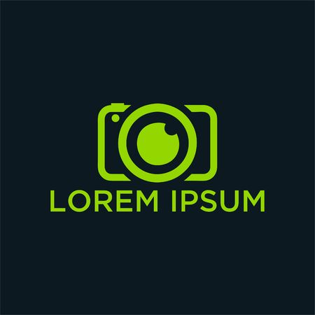vector and logo for photographer. Logo in a simple modern style.