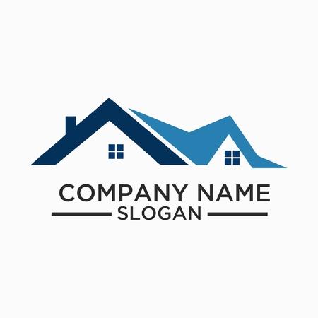 Budowa i budowa Logo wektor wzór. Projekt szablonu logo nieruchomości dla biznesu