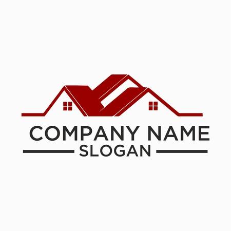 bâtiment et bâtiment logo design vectoriel. logo immobilier logo de conception pour les entreprises Logo
