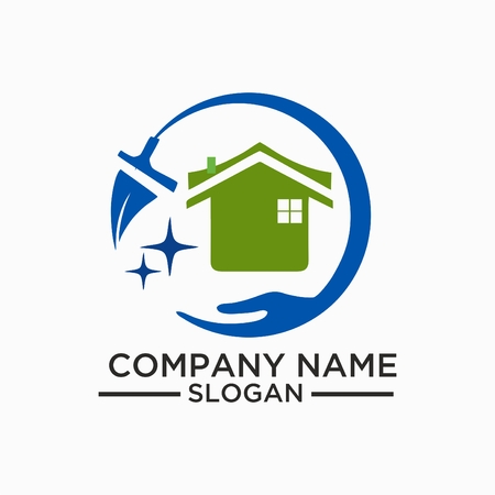 Cleaning And Maintenance Logo and vector Template, Cleaning icon. Single high quality outline symbol for web design or mobile app. Thin line sign for design logo.  イラスト・ベクター素材
