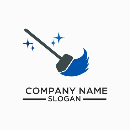 Cleaning And Maintenance Logo and vector Template, Cleaning icon.