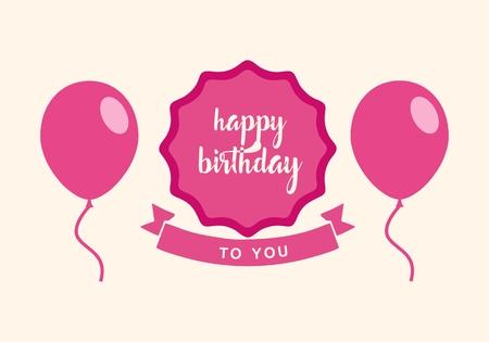 Happy Birthday Design Vector ~ Happy birthday typographic vector design for greeting cards