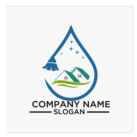 Logo, icon and vector for Cleaning And Maintenance Иллюстрация