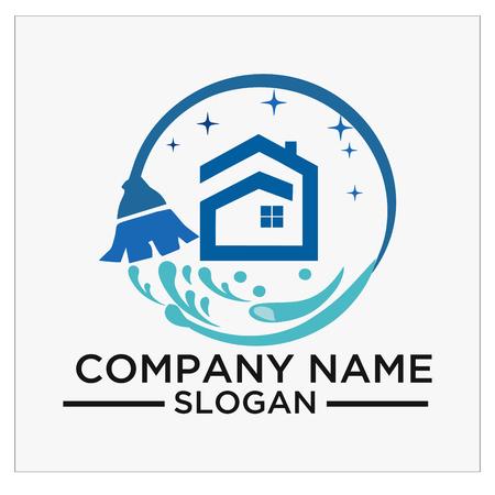 Logo, Symbol und Vektor für Reinigung und Wartung. Logo