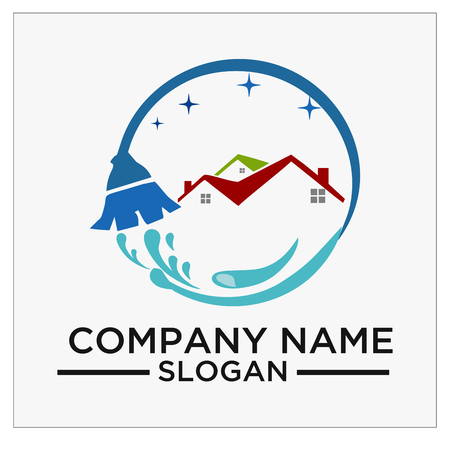 Logo, icon and vector for Cleaning And Maintenance Stock Illustratie
