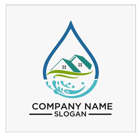 Ein Logo, eine Ikone und ein Vektor für Reinigung und Wartung