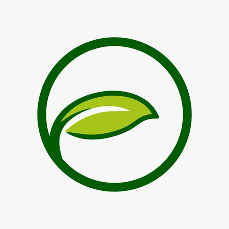 Leaf plant logo ecology symbol icon design.