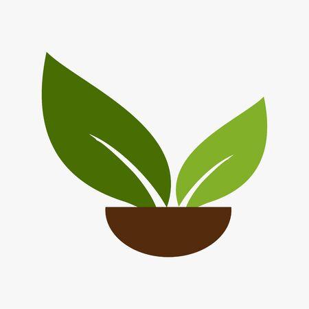 : Leaf,plant,logo,ecology,people,wellness,green,leaves,nature symbol icon set of vector designs Иллюстрация