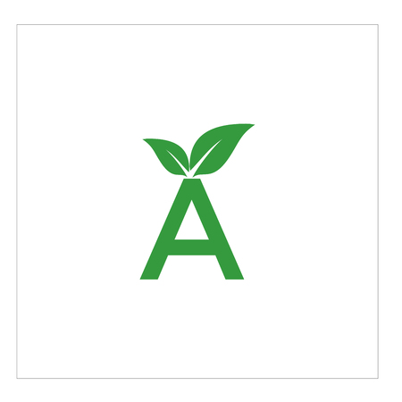 Leaf letter A logo illustration 矢量图像