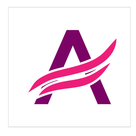 Letter A logo illustration