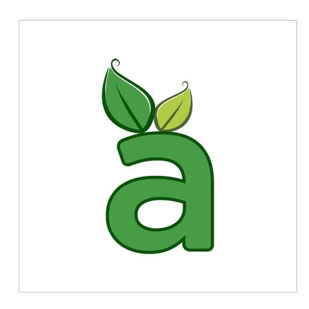 leaf letter logo a