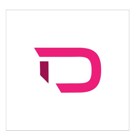 letter logo d 矢量图像
