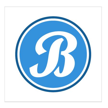 letter logo b 矢量图像