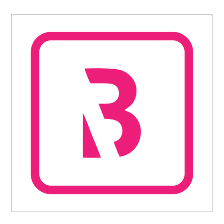 Letter B logo illustration 矢量图像
