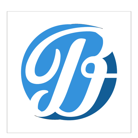 Logo and vector letter b