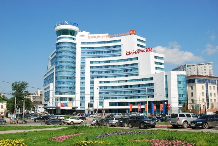 The 4 star Onegin Hotel is located in Ekaterinburg downtown, in the building of the modern Onegin Plaza business centre