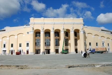 rearrangement: Reconstruction of Central Stadium, Ekaterinburg  f Central Stadium, Yekaterinburg   Editorial