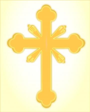 gold cross: Orthodox gold Cross