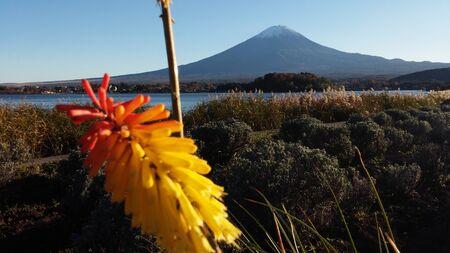 kawaguchi ko: Mt.Fuji at Lake Kawaguchiko Stock Photo