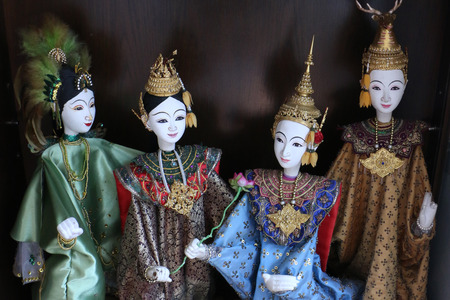puppetry: Thai Puppetry Stock Photo