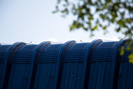 metal sheet: Blue roof metal sheet texture