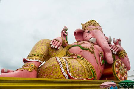 busts: Ganesh sculpture at Samarn temple, Thailand Stock Photo