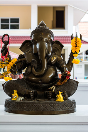 superstitions: Ganesh statue in a temple at Thailand