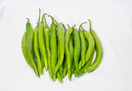 green chilli: Green chilli with isolate background Stock Photo