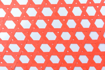 horozontal: Red paper was weave with horozontal pattern