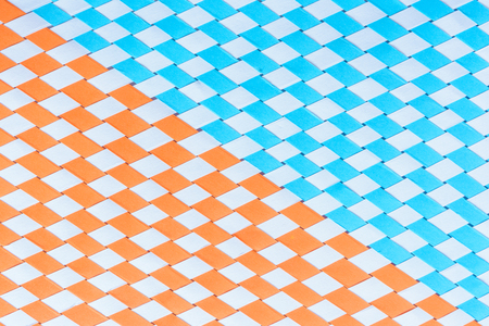 slope: Blue and orange pattern with slope Stock Photo