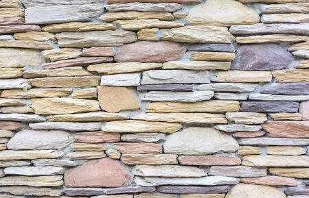 wall decor: Rock was decor a wall Stock Photo