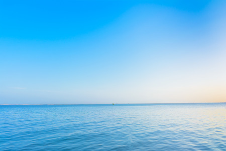seaports: Blue sky and blue sea Stock Photo
