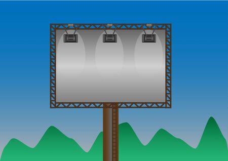declare: Concept billboard for advertising Illustration