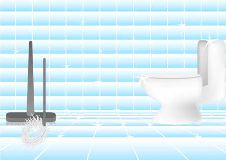 Concept and idea of a clean toilet in a bathroom