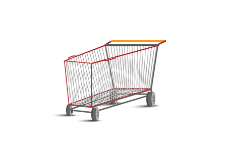 Blank shopping cart. Vector EPS10