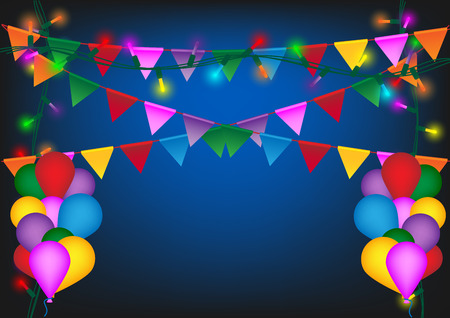 Concept and idea colorful balloon and celebration party background. Vector EPS10