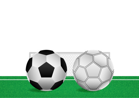 Concept and idea football on green grasses. Football sport tournament template infographic. Vector EPS10
