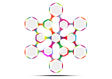 Hexagon infographic template for create presentation and strategy report.