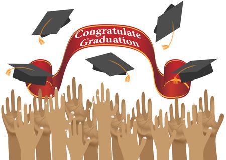congratulations education concept background. Vector EPS10 Illustration