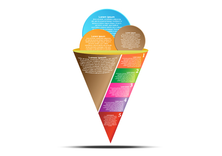 Concept and idea ice cream cone infographic. Infographic template for create report and presentation.