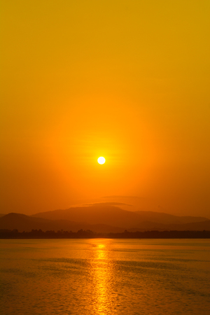Nature sunrise background with clear sky. Nature and outdoor background with morning time Фото со стока