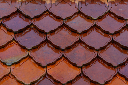 Abstract background of roof tile pattern and texture
