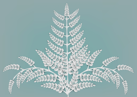 Abstract nature white leaf background. Concept and idea natural leaf and texture background Иллюстрация