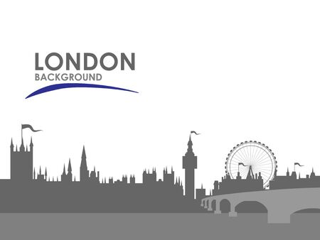 Black and white London city background. Concept and idea landscape background.