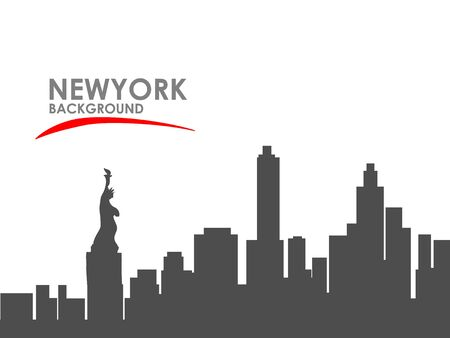Black and white New York city background. Concept and idea landscape background. Фото со стока - 129274019