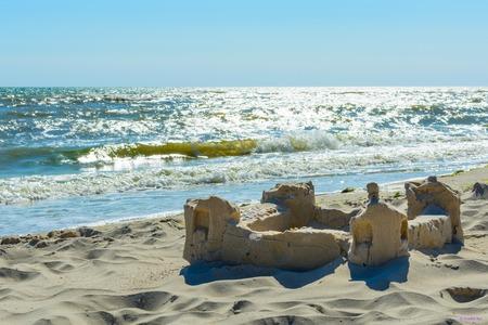The sand castle on the seafront Banco de Imagens - 82654651
