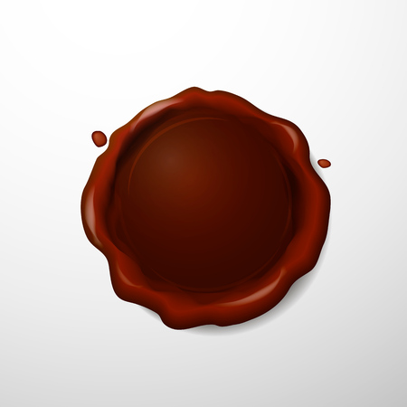 seal wax: Vector illustration isolated Red seal wax on white background.