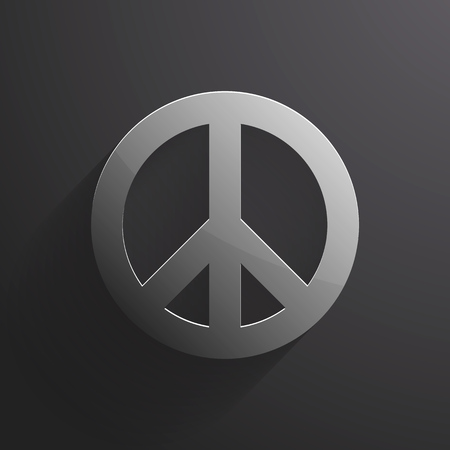 social movement: peace symbol style composition metal. Illustration