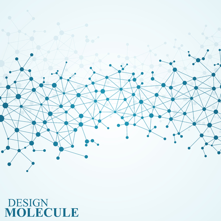 macromolecule: Structure molecule of DNA and neurons. Abstract background. Medicine, science and technology. Vector illustration for your design.