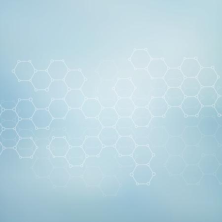 adn humano: Estructura de la molécula de ADN y las neuronas. Fondo abstracto. La medicina, la ciencia y la tecnología. ilustración vectorial para su diseño.